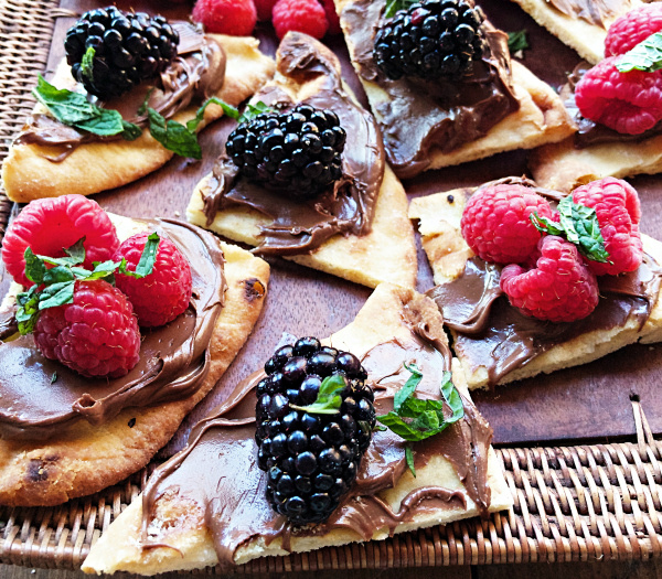 Nutella and Berries Flatbread Dessert